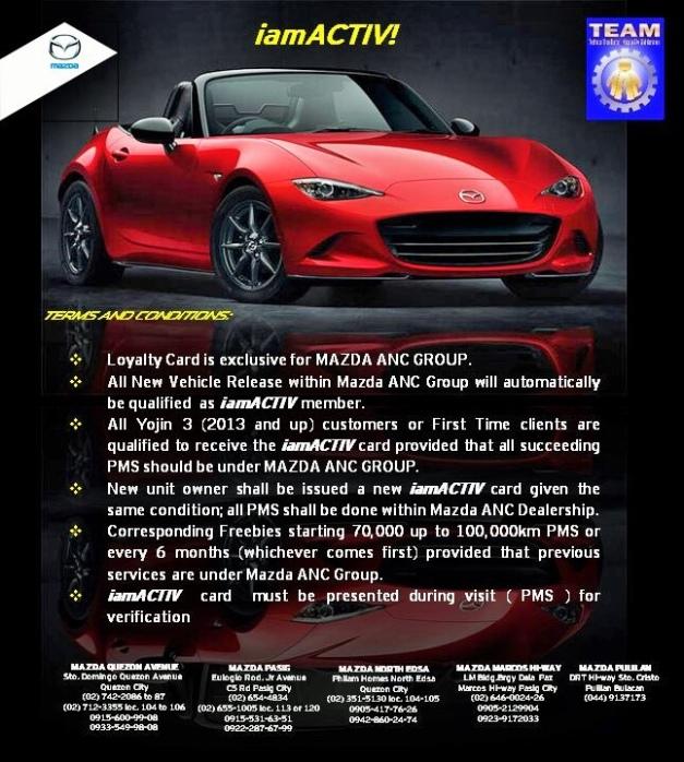 Mazda Loyalty Program From ANC Group MazdanersPh - Mazda loyalty program